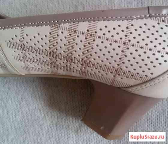 Туфли женские в клеточку, натуральная кожа, р-38 Новосибирск