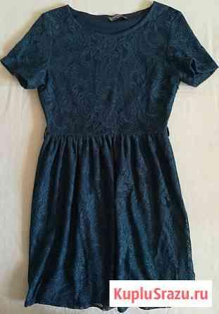 Платье кружевное синее, р-44(46) Новосибирск