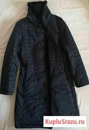 Пальто женское Liloti тёмно-синее, р-48(46) Новосибирск