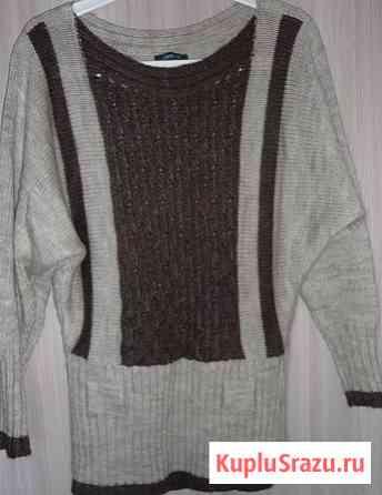 Пуловер молочно-кофейный, р-46(48) Новосибирск