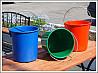 Вёдра цветные пластиковые