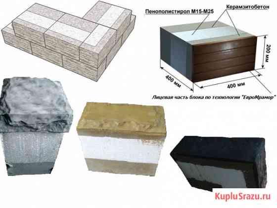 Теплоблоки 3-4х.сл. под мрамор и стройматериалы от производителя Нижний Новгород
