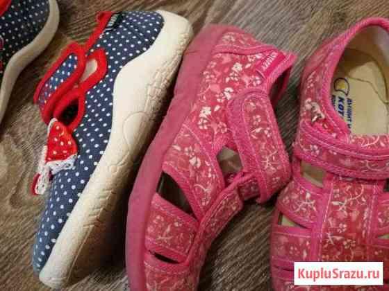 Туфли босоножки из текстиля для девочек Биокомбината