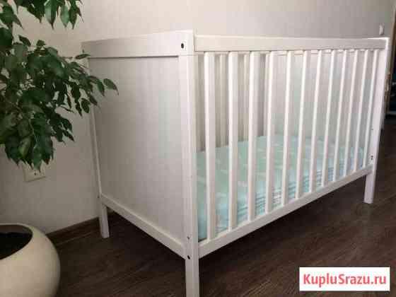 Кроватка IKEA Сундвик детская для новорождённых + Балашиха