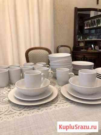 Набор Новой керамической посуды на 12 персон (48 п Снегири