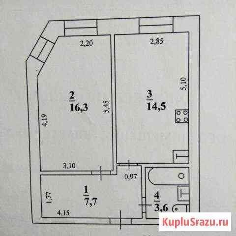 1-к квартира, 42 кв.м., 2/5 эт. Нарьян-Мар