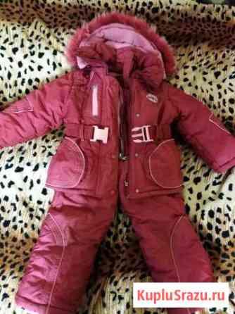 Зимний костюм для девочки Щеглово