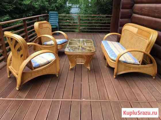Садовая мебель из ротанга Марфино