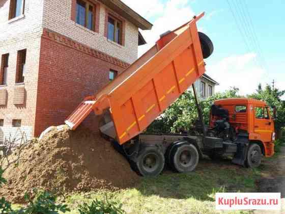 Поднять участок песок щебень торф Дорохово