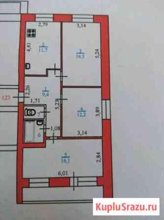 3-к квартира, 70 кв.м., 6/7 эт. Нарьян-Мар
