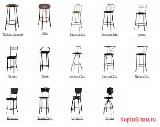 Барные стулья на металлокаркасе для кафе, бара, ресторана, дома Санкт-Петербург