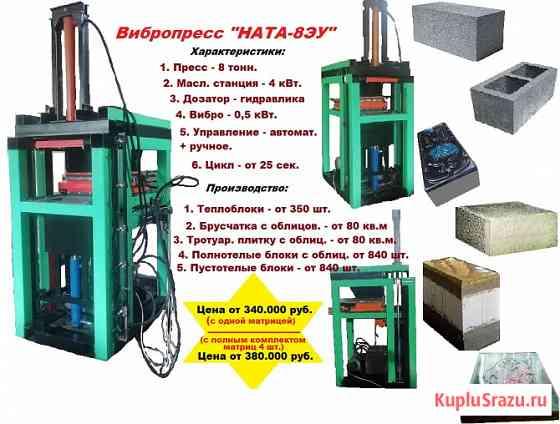 Вибропресс 8 тонн по производству теплоблоков, брусчатки, блоков с обл Пермь