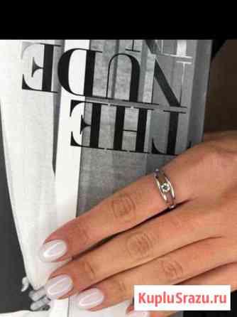 Кольцо из белого золота 585 с бриллиантом Санкт-Петербург