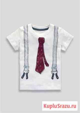 Новая футболка с галстуком р. 9-12мес Москва