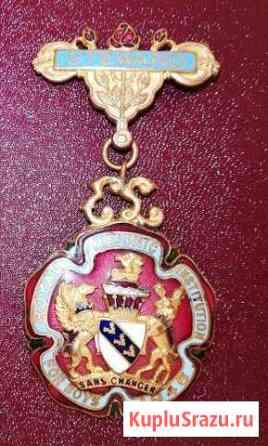 Масонский знак медаль орден эмаль Англия масоны Советский