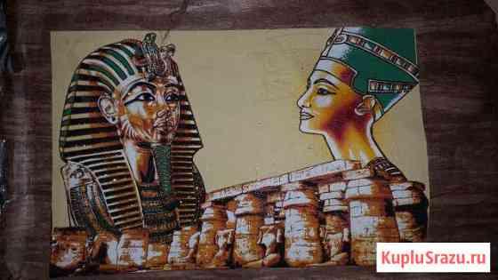 Картина на пергаменте. Египет Черное