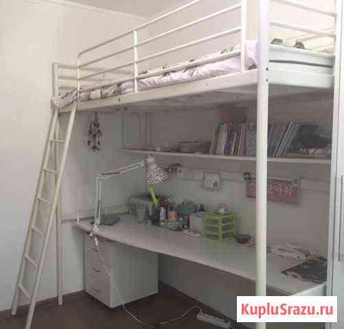 Двухъярусная кровать и письменный стол Элиста