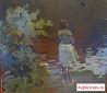 Картина Девушка Б.Н. Поморцев. 1965 год
