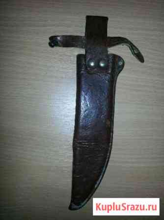 Кожаный чехол-ножны для ножа б/у СССР Хабаровск