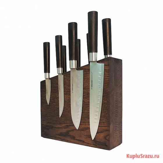 Дизайнерская подставка для 8-ми ножей из дерева Москва
