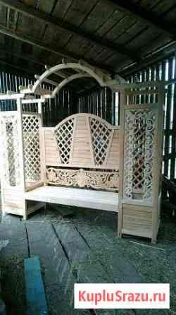 Арочная скамейка Турочак