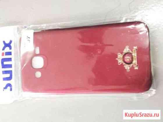 Красный чехол от телефона SAMSUNG J7 Карабулак