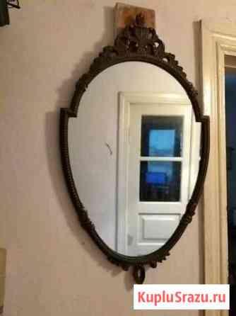 Винтаж зеркало в раме под бронза бу Волгоград