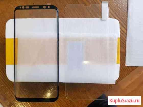 2 защитных стекла SAMSUNG s8 plus Сланцы