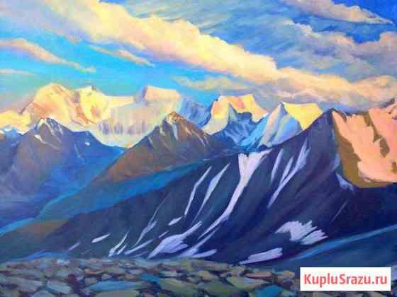 Картина Белуха на закате Майма