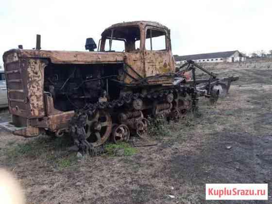 Трактор дт-75 с плугом Анастасиевская