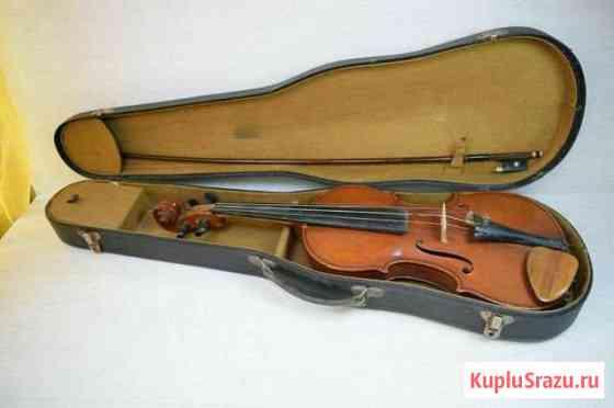 Скрипка старинная в чехле Кулунда