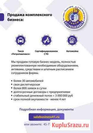 Продажа комплексного бизнеса: такси + сто Петропавловск-Камчатский
