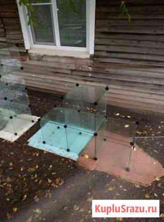 Стеклянные кубы-витрины Шелопугино