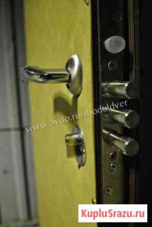 Входная дверь из стали с отделкой бежевый винил Подольск