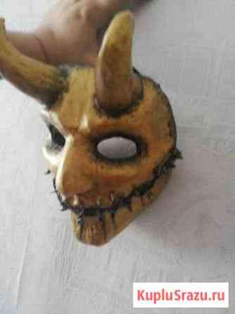 Маска ручной работы золотой демон Арсеньев