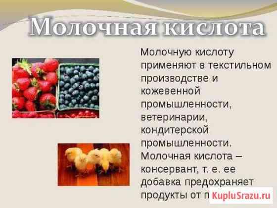 Молочная кислота (1литр) Краснодар