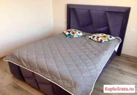 Кровать с фигурным изголовьем. Производство Железнодорожный