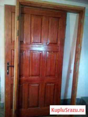 Дверь деревянная входная утепленная 105-210 Дмитров