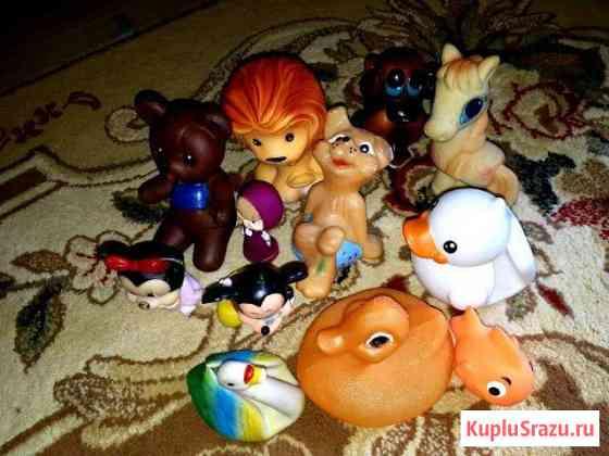 Резиновые игрушки.Лев,Микки Маусы,утки,мишки,конь Домодедово