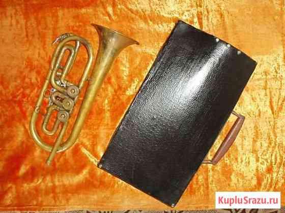 Труба музыкальная в футляре. СССР Монетный