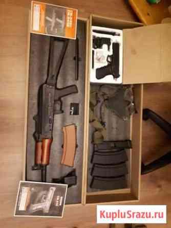 Страйкбольное снаряжение, амуниция,ак74у, glock 17 Фрязино