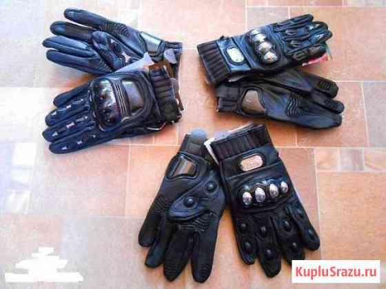 Перчатки PRO-biker MCS-05 black кожа Чехов