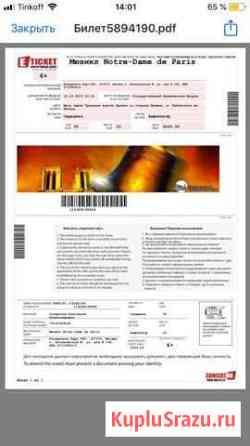 Билет на мюзикл Нотр Дам де Пари Красногорск