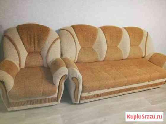 Продам диван с креслом бу Бугульма