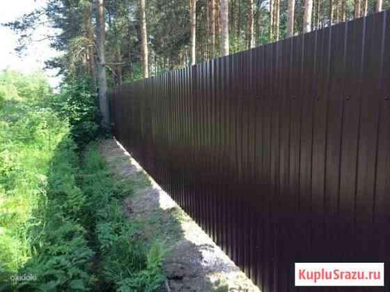 Забор из профнастила быстро Васкелово