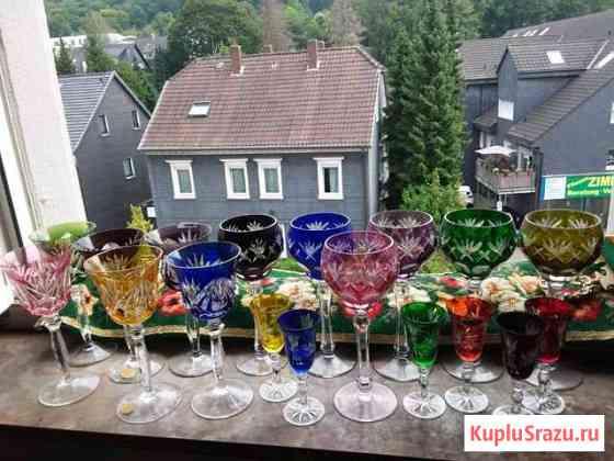 Фужеры из цветного хрусталя,Германия Приморск