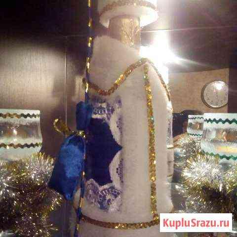 Оформление бутылок (новогодний декор) Белогорск