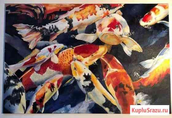 Картина маслом. Рыбы Кои Йошкар-Ола