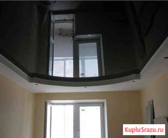 Натяжной потолок черный глянец арт 307 Томск