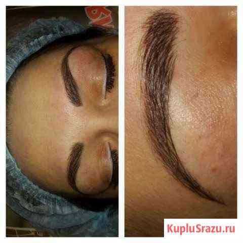 Перманентный макияж бровей, пудровые, напыление, м Кемерово